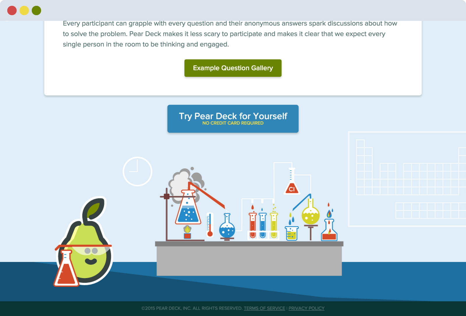 Pear Deck Feature Page Footer