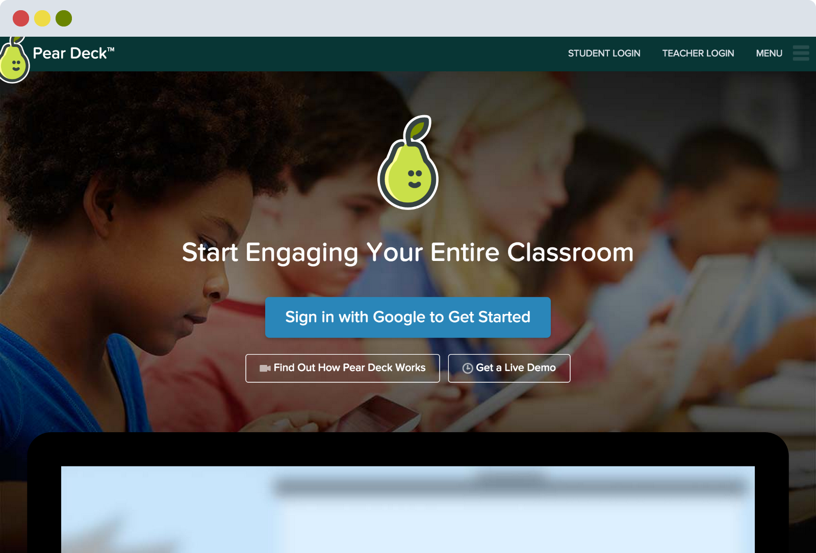 Pear Deck Home Page